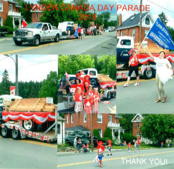 2015 Lynden Caada Day Parade Turkstra Lumber Dundas