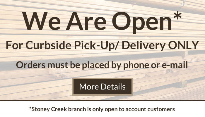 Turkstra Lumber is Open - Curbside Pick-Up and Delivery Only